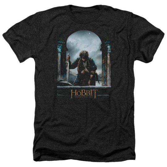 Hobbit Movie BILBO POSTER Licensed Adult Heather T-Shirt All Sizes
