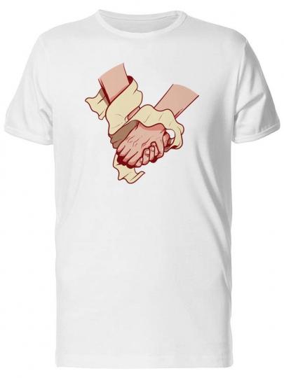 Holding Hands Cartoon Men's Tee -Image by Shutterstock