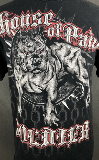 House Of Pain Soldier Mens T-Shirt Size Large Ironwear Rap Hip-Hop Pitbull  Dog