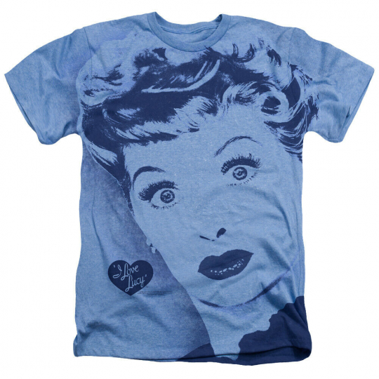 I LOVE LUCY TV Show Lucy Face Heather T-Shirt All Sizes