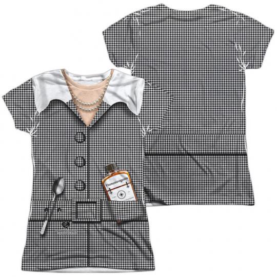 I Love Lucy TV Show VITAMEATAVEGAMIN COSTUME 2-Sided Print Poly Juniors T-Shirt