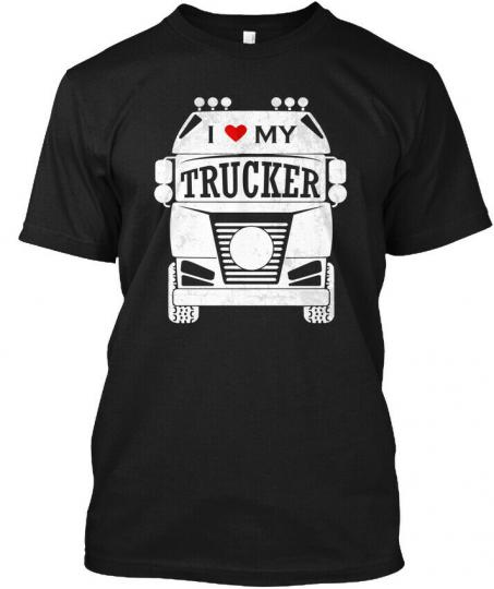 I Love My Trucker Truck Driver Hanes Tagless Tee T-Shirt