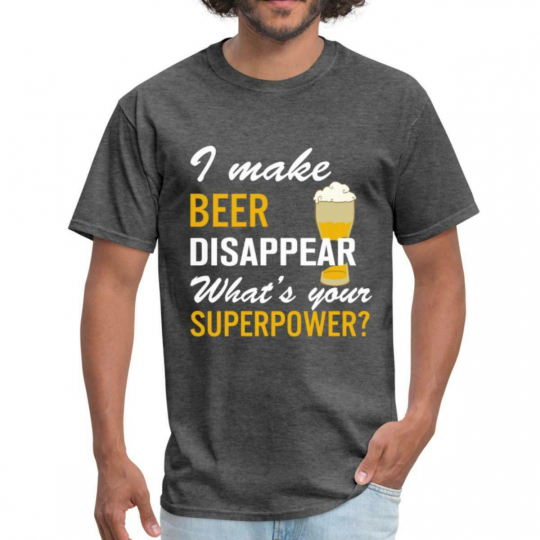 I Make Beer Disappear Funny Quote Men's T-Shirt by Spreadshirt™
