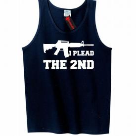 I Plead The 2nd Mens Tank Top Gun Rights Second Amendment AR15 Sleeveless Tee Z3