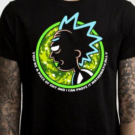 I can Prove it mathematically Rick and Morty Shirt Graphic T-Shirt Grandpa Rick