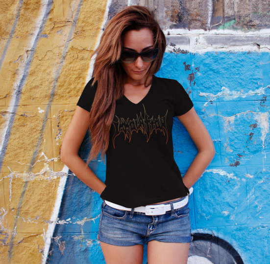IMMOLATION Women Black T-shirt Death Metal Band Lady V-Neck Tee Shirt