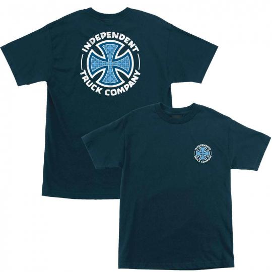 Independent Skateboard Shirt Repeat Cross Harbor Blue