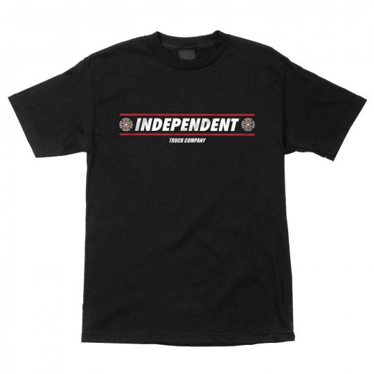Independent Skateboard Shirt Shear Black
