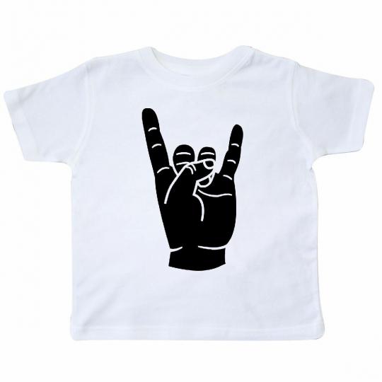 Inktastic Rocker Horns Toddler T-Shirt Heavy Metal Rock Punk N Roll Music Hair