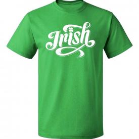 Irish Shamrock St Patrick's Day Wht Text Men's T-shirt funny Ireland celebration
