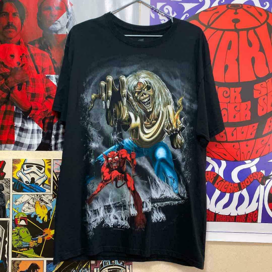 Iron Maiden.Haynes.Band T-Shirt.Vintage.Second-Hand Clothing.90S Size L