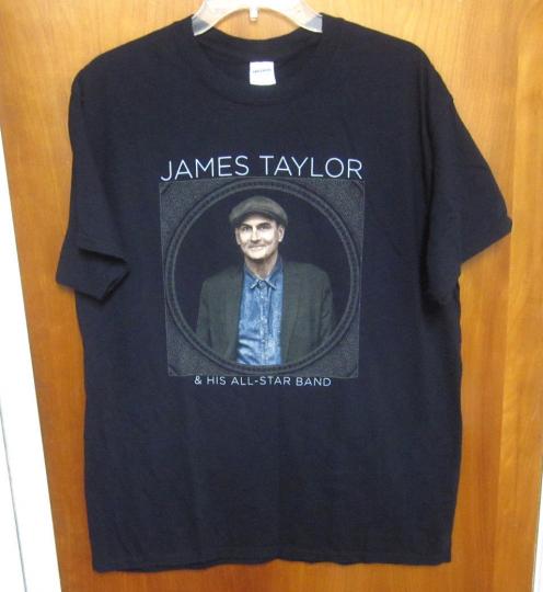 JAMES TAYLOR lrg T shirt acoustic guitar Before the World folk-rock 2016 tour