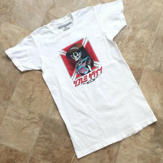 JK Industries / Hook-Ups Dream Girl Bones Hawk T Shirt White Size Small S LEGIT
