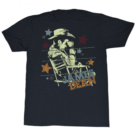 James Dean Hollywood Icon Giant Film Adult T-Shirt Tee