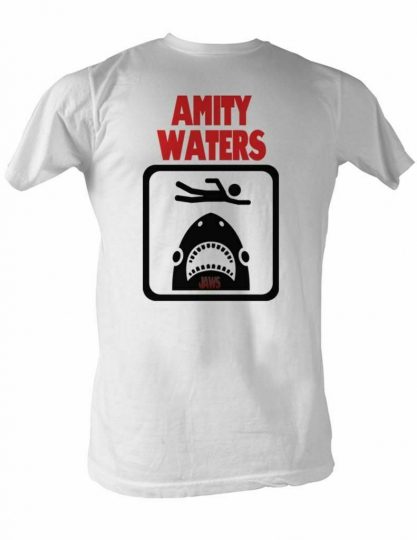 Jaws Amity Waters White Adult T-Shirt