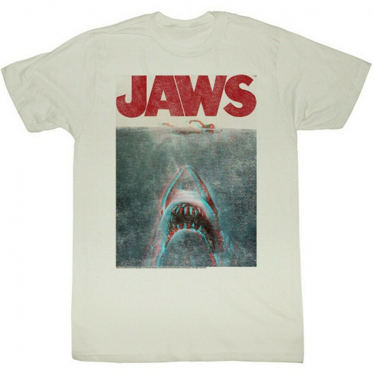 Jaws In Terrifying 3D Adult T-Shirt Tee