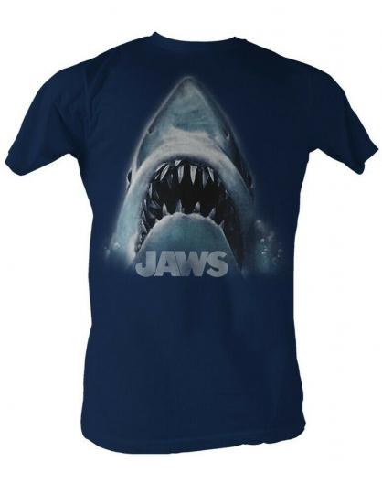 Jaws Jaws Head Logo Adult T-Shirt Tee