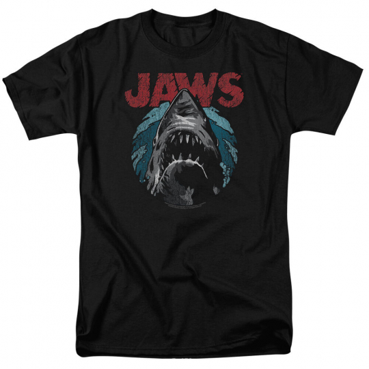 Jaws Movie Poster WATER CIRCLE Licensed Adult T-Shirt All Sizes