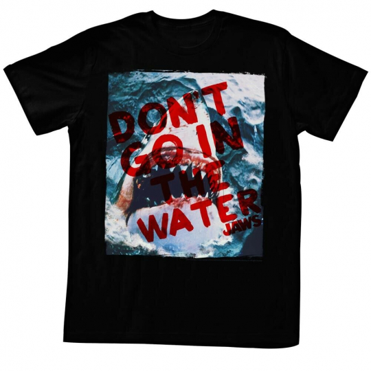 Jaws Movie Thriller Spielberg Don't Go Adult T-Shirt Tee