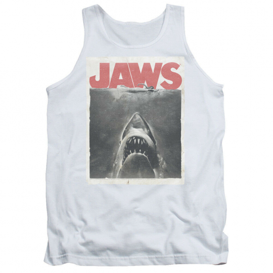 Jaws Vintage Movie Poster CLASSIC FEAR Licensed Adult Tank Top All Sizes