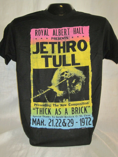 Jethro Tull T-Shirt Tee Ian Anderson British Rock Band Music Albert Hall New 11