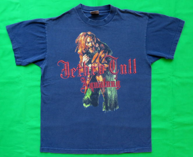 Jethro Tull Vintage T Shirt Aqualung 1990's Rock Music Band L