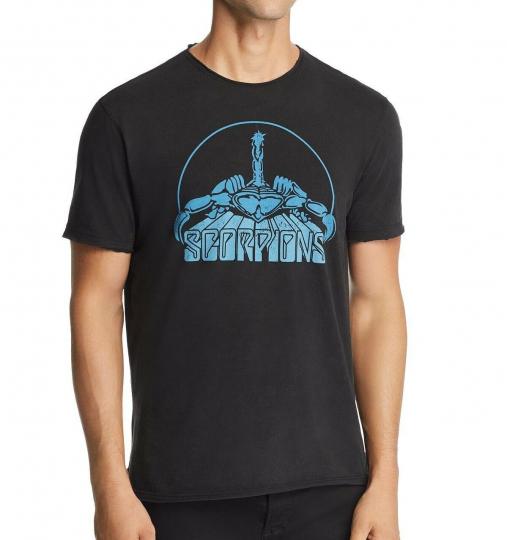 John Varvatos Star USA Men's Scorpions Band Rock Icon Graphic Crew T-Shirt Black