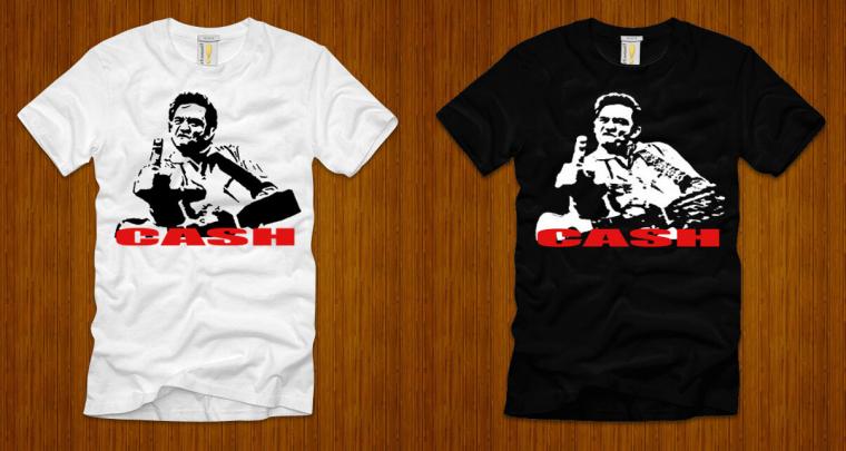 Johny Cash printed Black/White T-Shirt Size S - 3XL dw1