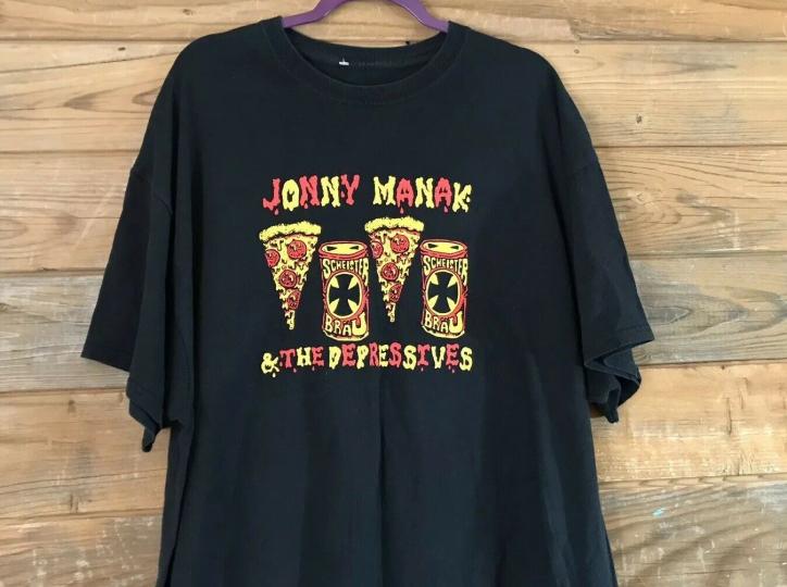 Jonny Manak & The Depressives Garage Punk Skate Punk band t-shirt XXL