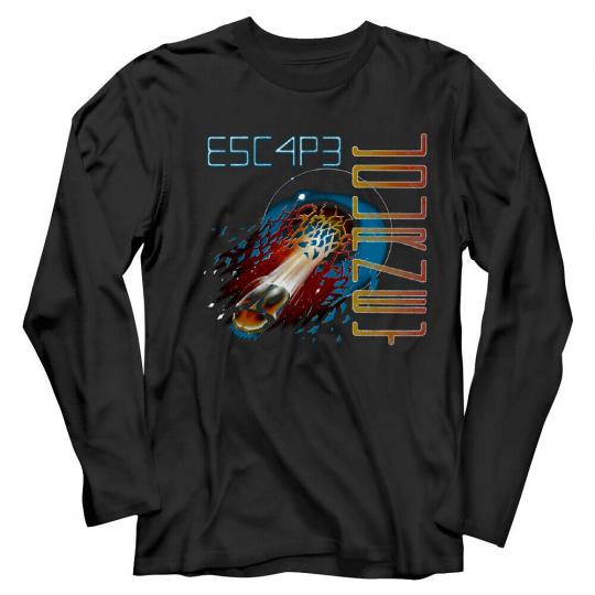 Journey Escape Album Cover Men's Long Sleeve T Shirt Space Beetle Rock Band