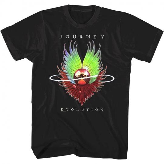 Journey Evolution Album Cover Art Mens T Shirt Glam Rock Band Concert Tour Merch