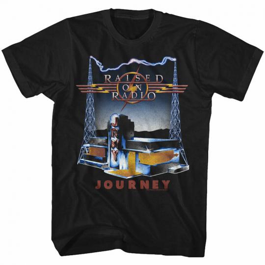 Journey On Radio Black Adult T-Shirt
