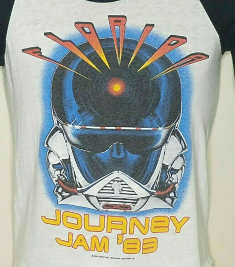 Journey T Shirt Vintage 1983 Florida Jam Tour Made In USA Ragland Size Small
