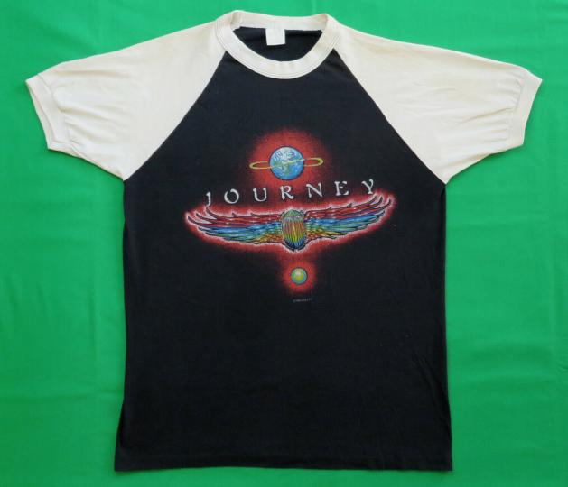 Journey Vintage T Shirt 1980's Concert Tour 1980 Rock Band Jersey AOR Pop