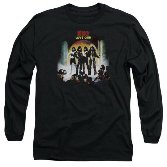 KISS LOVER GUN COVER Licensed Adult Men's Long Sleeve Band Tee Shirt SM-3XL