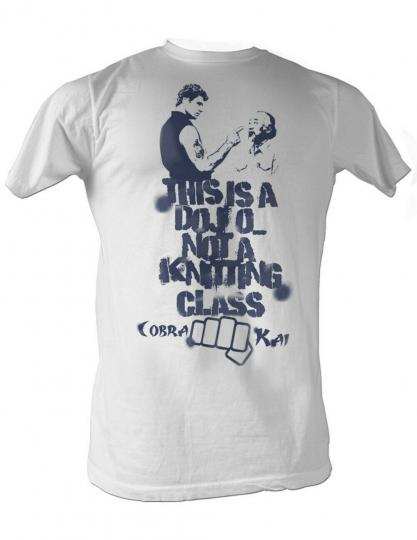 Karate Kid Knitting Class Adult T-Shirt Tee