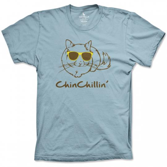 Kid's Chin Chillin t-shirt cute chinchilla tees youth animal shirts