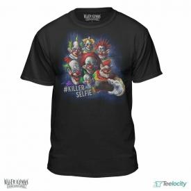 Killer Klowns from Outer Space Taking A Killer Selfie T-Shirt Black