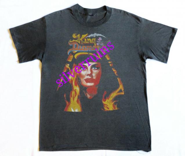 King Diamond Vintage T Shirt 80's 1986 Fatal Portrait Tour Dates Concert LP Logo