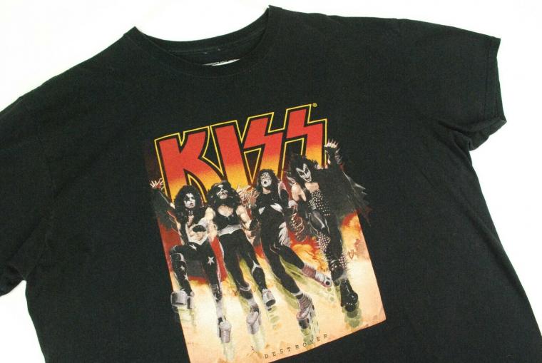 Kiss Destroyer Concert Tour T Shirt Rock Band Men 2XL Throwback Retro Vintage