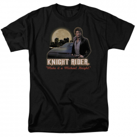 Knight Rider Full Moon Short Sleeve T-Shirt Licensed Graphic SM-7X