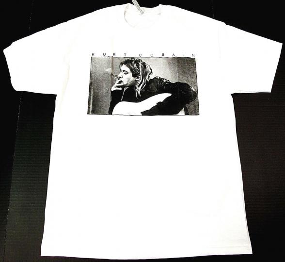 Kurt Cobain T-shirt Nirvana Grunge Rock Tee Adult M-2XL 100% Cotton Black New