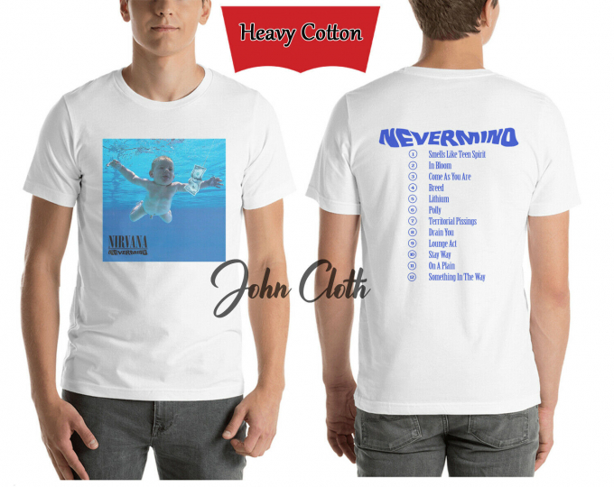LIMITED EDITION!!! 1992 Nirvana Nevermind Heavy Cotton T-Shirt USA Size S-2XL