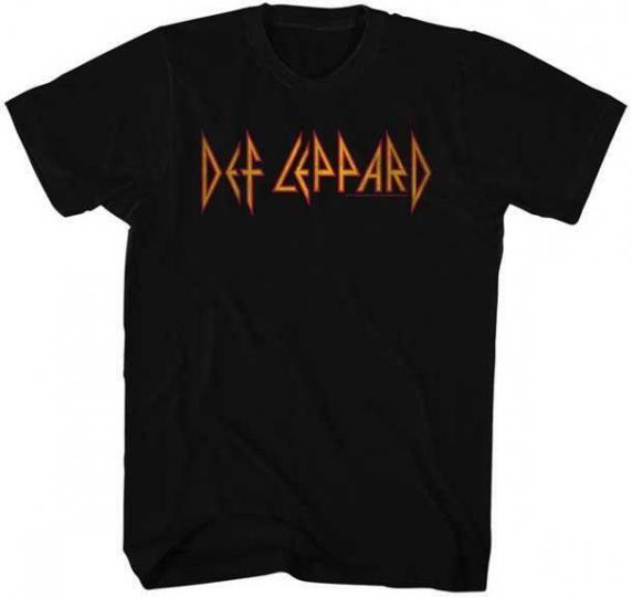 LOGO Def Leppard English Rock Band Heavy Metal Hard Rock BLACK Adult T-Shirt