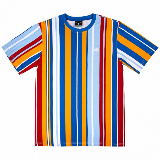 LRG Men's Barmello Stripe Knit Short Sleeve T Shirt Multi-Color Clothing Appa...