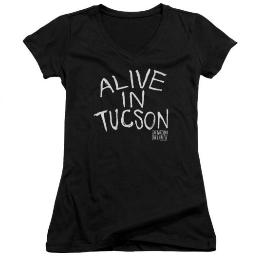 Last Man on Earth TV Show ALIVE IN TUCSON Licensed Juniors V-Neck Tee Shirt