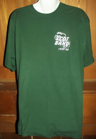 Lawton Oklahoma Scot Band Vintage Rare T-Shirt 1997 1998 Adults Size Large