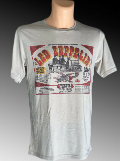 Led Zeppelin Earl's Court Concert T Shirt New Vintage Style Classic Rock Band