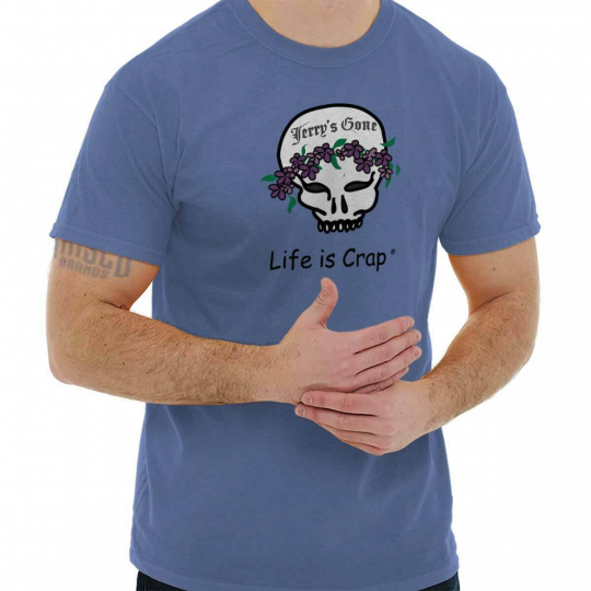 Life is Crap Jerry Garcia Funny Shirt Cute Baby Clothes Gift Classic T Shirt Tee
