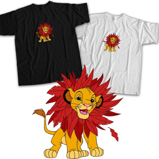 Lion King Young Simba Cub Leaf Mane Classic Disney Movie Cute Unisex Tee T-Shirt